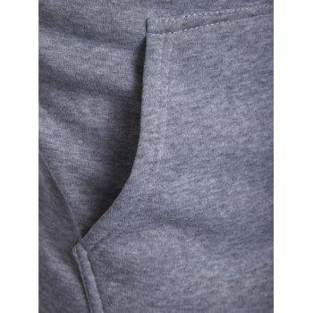 IZZUMI Classic Color Block Front Pocket Hooded Long Sleeves Men's Hoodie - LIGHT GRAY M