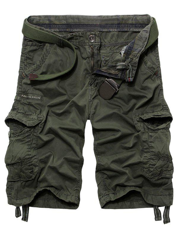 Trendy Men's Loose Fit Multi-Pockets Cargo Shorts - ARMY GREEN 32