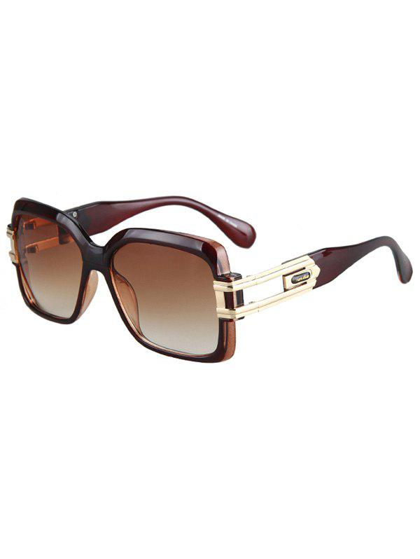 Chic Hollow Alloy Modern Quadrate Sunglasses For Women