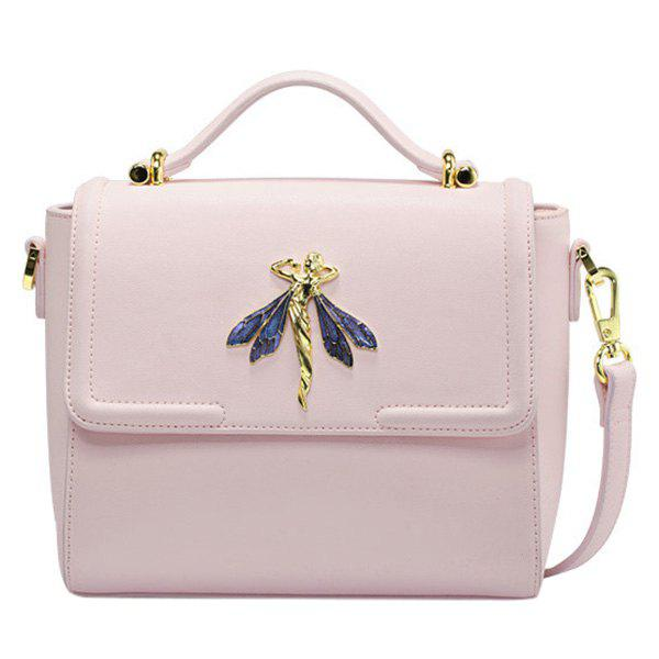 Elegant Cover and Metal Design Women's Tote Bag - SHALLOW PINK