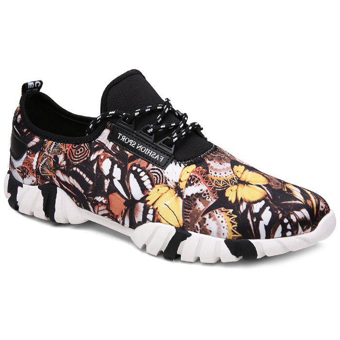 Trendy Multicolor and Butterfly Pattern Design Men's Athletic Shoes