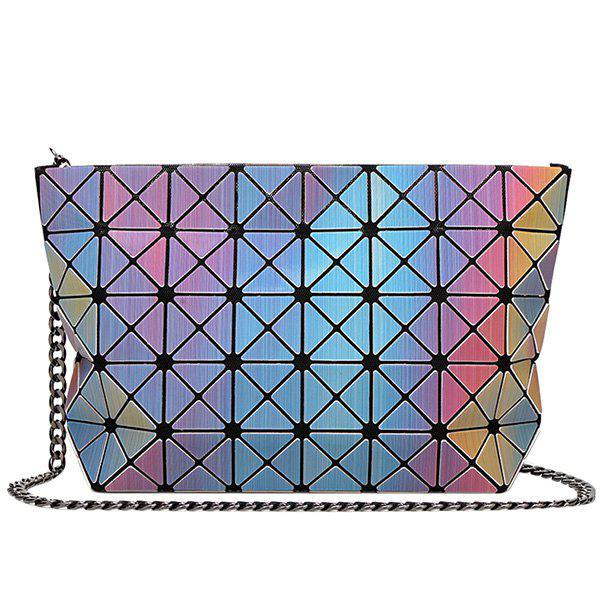Trendy Checked and Gradient Color Design Women's Crossbody Bag - COLORMIX