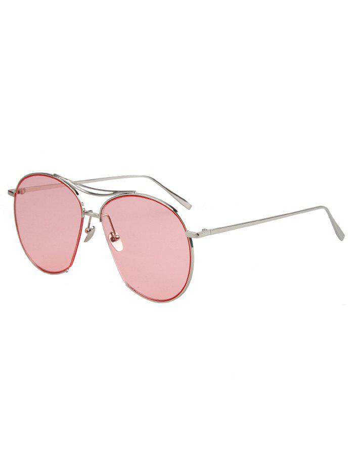 Chic Irregular Frame Silver Sunglasses For Women - SILVER