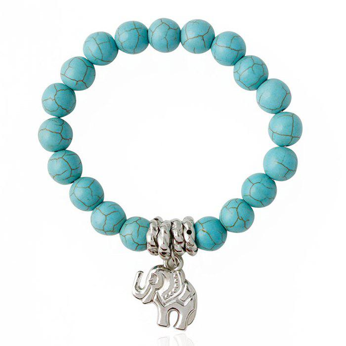 Cute Faux Turquoise Elephant Bracelet For Women