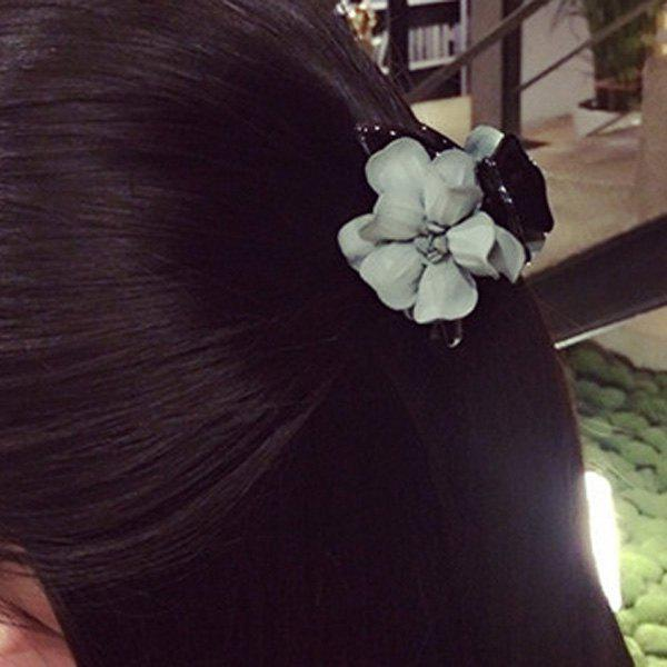 Stylish Flower Embellished Hair Claw For Women