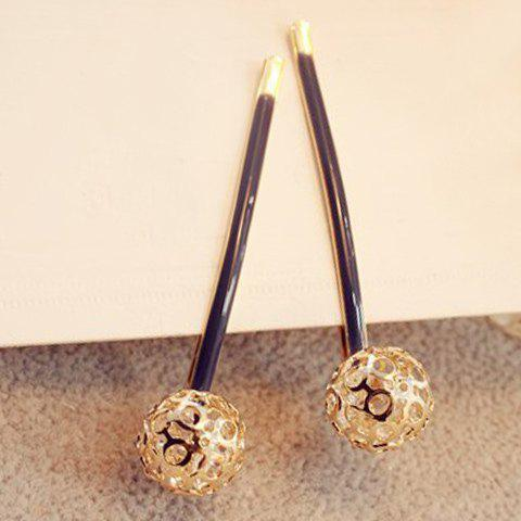 Pair of Charming Ball Hairpins For Women