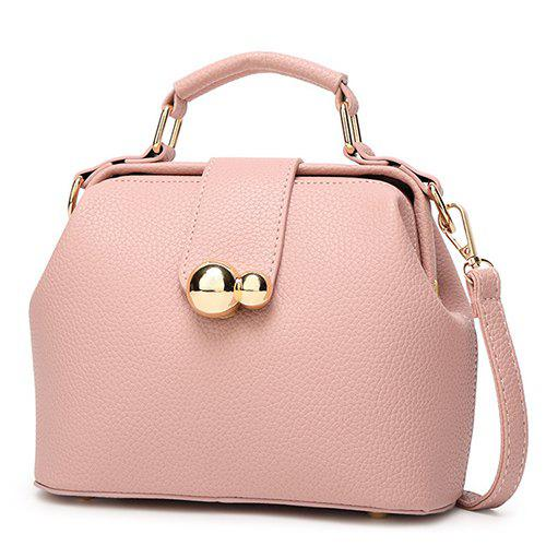 Charming Hasp and Solid Color Design Women's Tote Bag - PINK