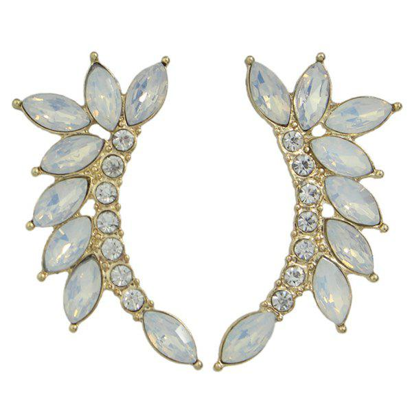 Pair of Charming Alloy Rhinestone Earrings For Women