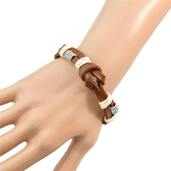 Retro Multilayer PU Leather Knot Bracelet For Women