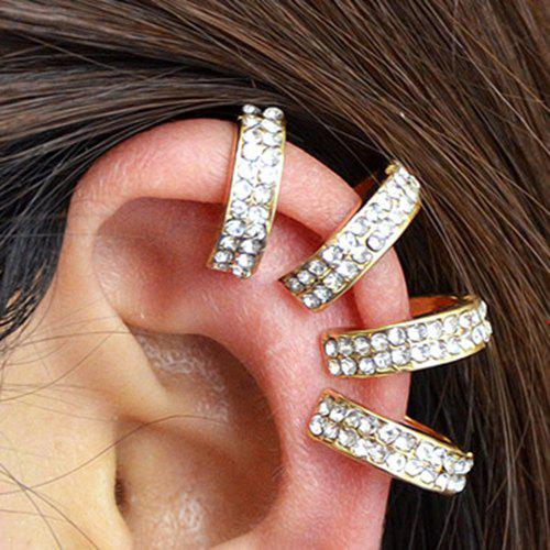 ONE PIECE Rhinestoned Ear Cuff - GOLDEN