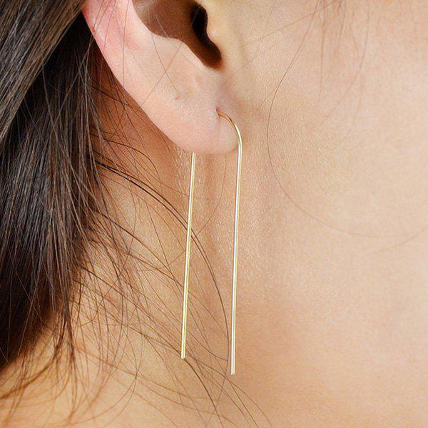 Pair of U Shape Earrings - GOLDEN