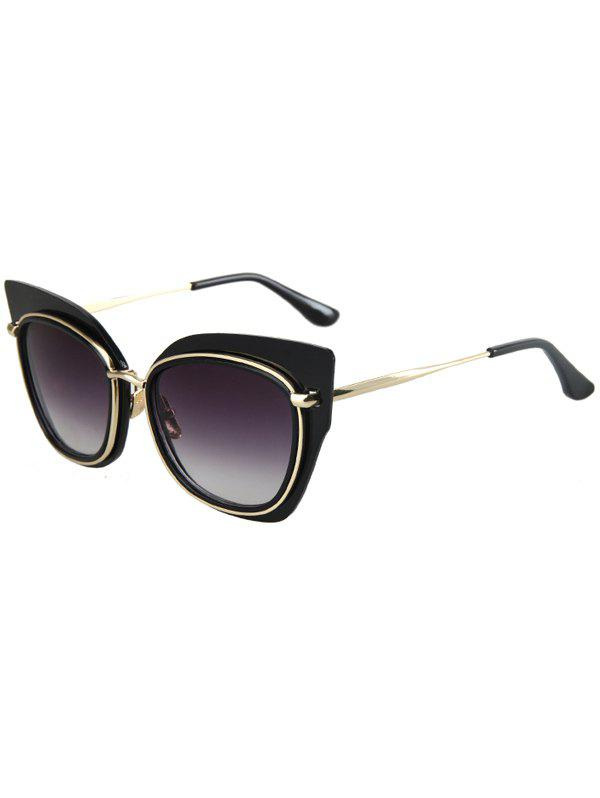 Chic Alloy Match Cat Eye Frame Sunglasses For WomenAccessories<br><br><br>Color: BLACK