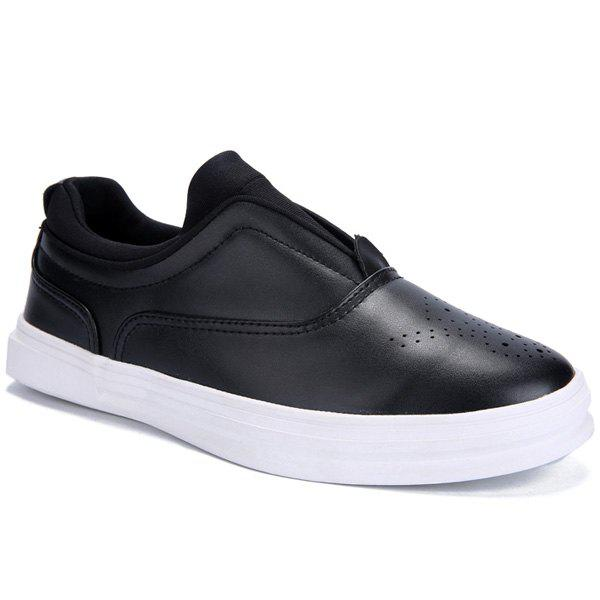 Stylish Solid Colour and Breathable Design Men's Casual Shoes