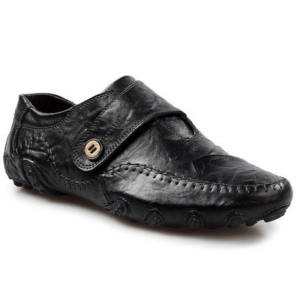 Fashionable Stitching and Button Design Men's Casual Shoes