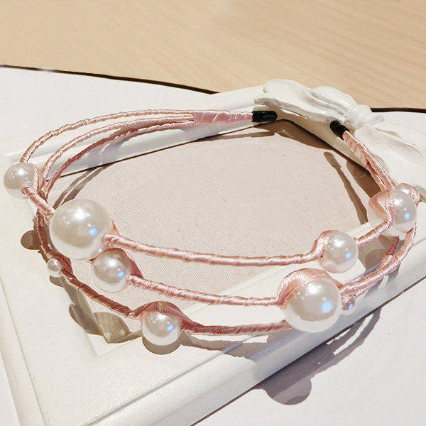 Chic Multilayer Irregularity Faux Pearl Hairband For Women