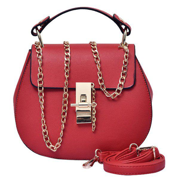 Concise Hasp and Solid Color Design Women's Tote Bag - RED