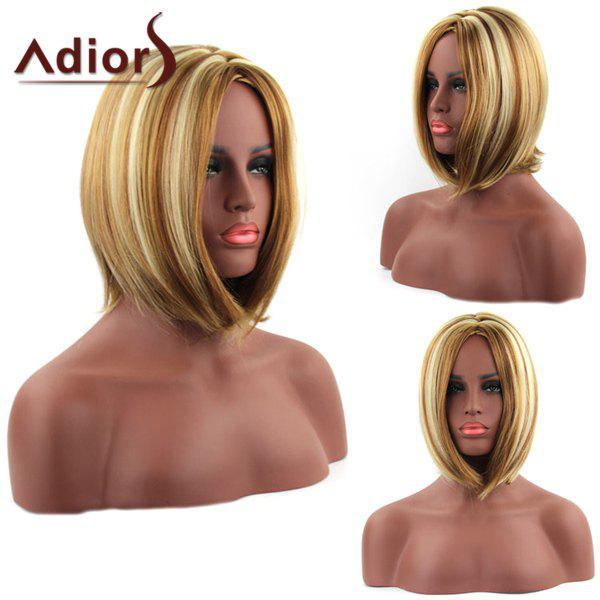 Bob Style Straight Synthetic Stunning Mixed Color Medium Capless Adiors Wig For Women - COLORMIX