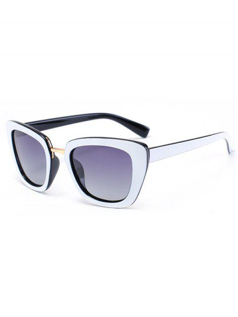 Chic Butterfly Frame Bicolor Match Sunglasses For Women - BLACK