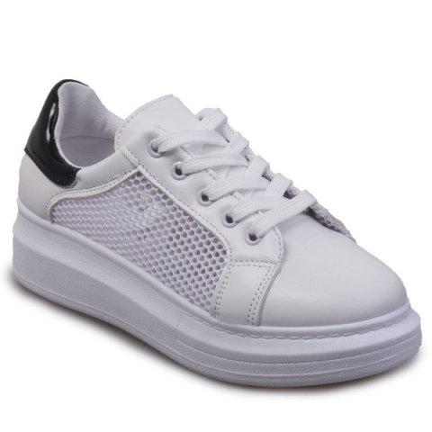 Mesh Casual et Sneakers Splicing design Femmes  's - Noir 39