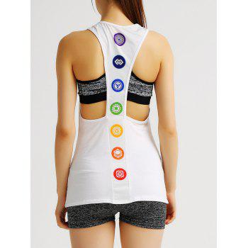Simple Style Racerback Printed Women's Sports Tank Top