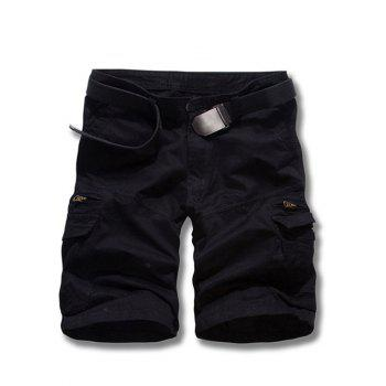 Men's Loose Fit Solid Color Cargo Shorts