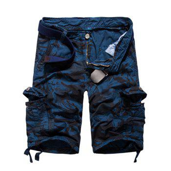 Loose Fit Multi-poches Camo Imprimé Men 's Cargo Shorts