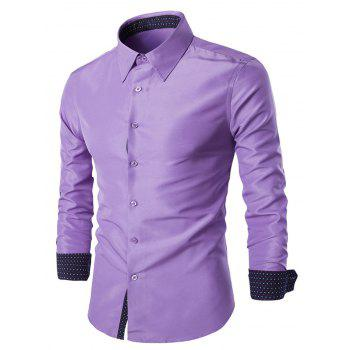 Solid Color Long Sleeves Single Breasted Men's Shirts