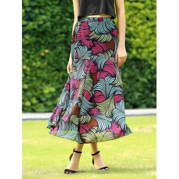 Retro Style Colormix Printed Casual Skirt For Women