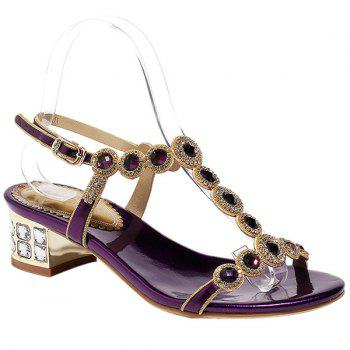 Bling Bling T-Strap and Rhinestone Design Women's Sandals