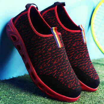 Trendy Hit Colour and Splicing Design Men's Casual Shoes - RED/BLACK 42