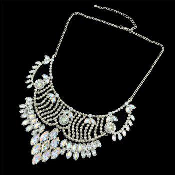 Faux Crystal Oval Alloy Necklace