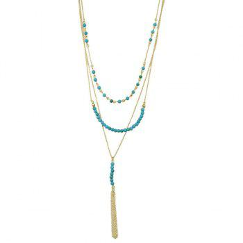 Faux Turquoise Multilayered Necklace