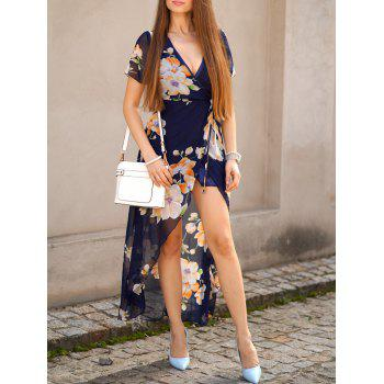 See Thru Maxi Floral Slit Swing Dress