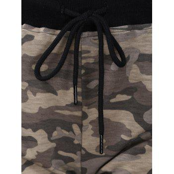 Trendy High-Waisted Spliced Camo Print Women's Shorts - COLORMIX L