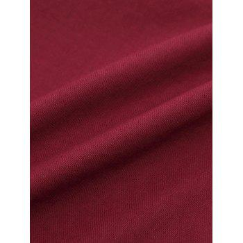 Casual Turn Down Collar Men's Shirts - WINE RED XL
