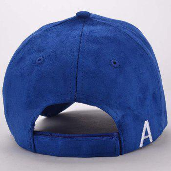 Stylish Well-Marked Blue Popular Hip-Hop Suede Baseball Cap - BLUE