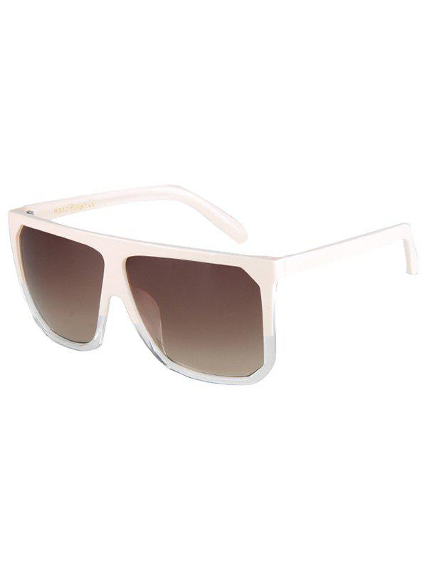 Chic Bicolor Match Big Quadrate Frame Sunglasses For Women - OFF WHITE
