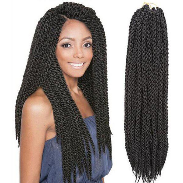 Exotic Twisted Rope Braid Long Synthetic Hair Extension For Women