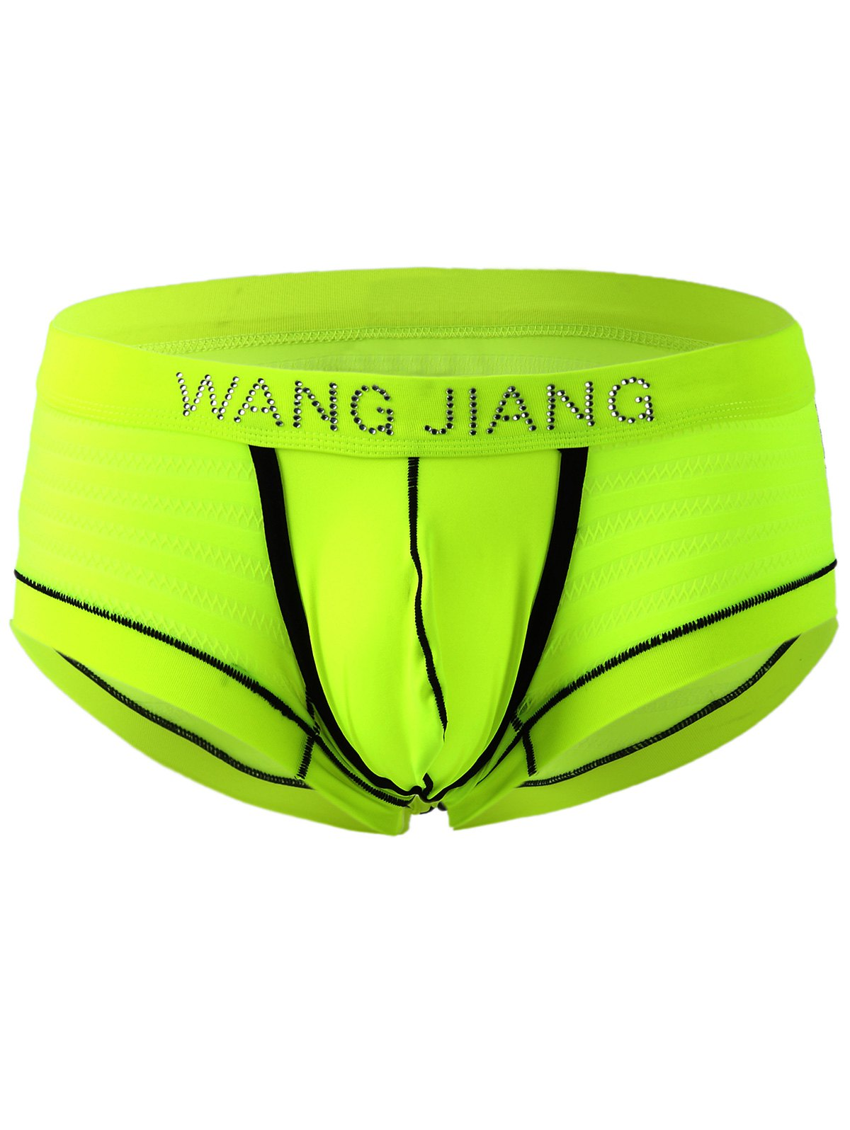 Elastic Waist U Pouch Men's Boxers - FLUORESCENT YELLOW XL