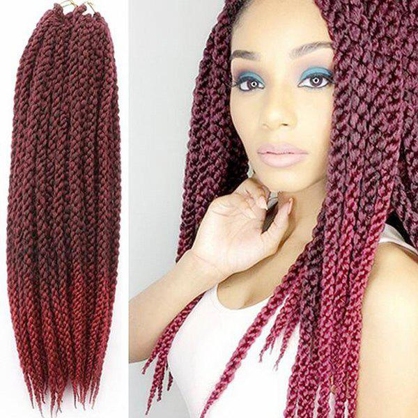 Exotic Twisted Rope Braid Red Ombre Color Long Synthetic Hair Extension For Women - COLORMIX