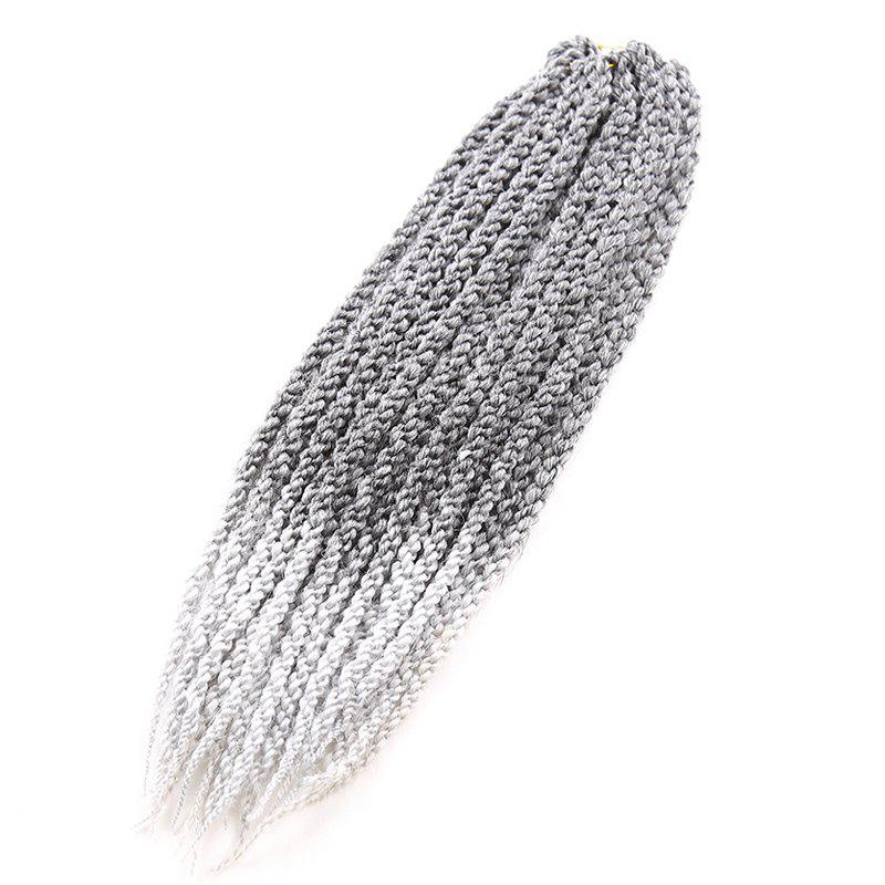 Exotic Twisted Rope Braid Silver Ombre White Long Synthetic Hair Extension For Women