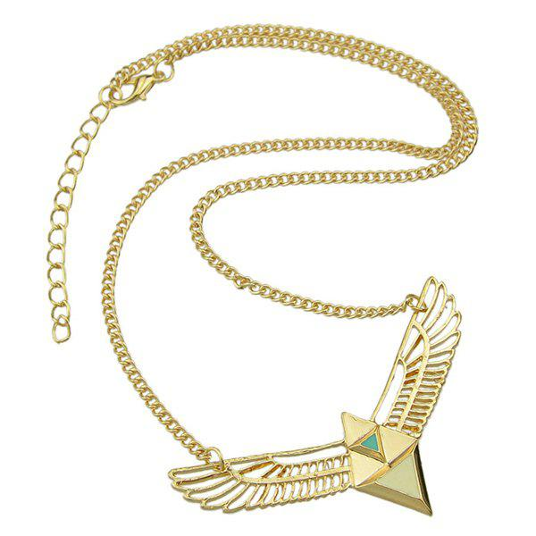 Alloy Triangle Wings Necklace - GOLDEN