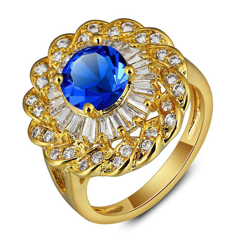 Gorgeous Faux Zircon Floral Ring For Women