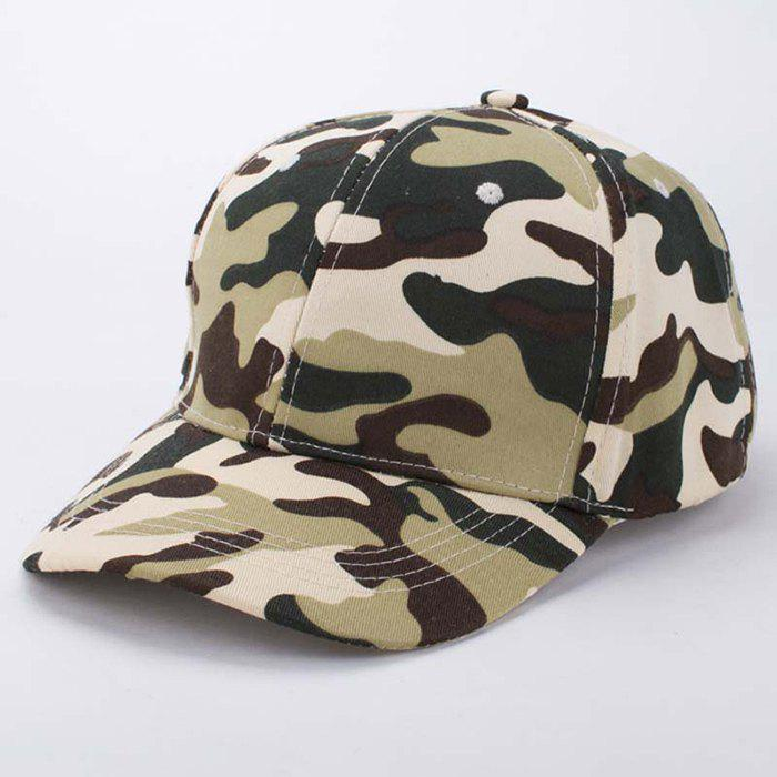Stylish Soldier Camouflage Pattern Men's Baseball Cap - ARMY GREEN
