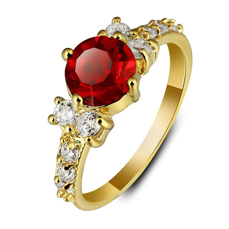 Gorgeous Faux Ruby Zircon Alloy Ring For Women