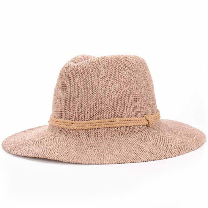 Chic Three Layered Rope Embellished Women's Holiday Sun Hat
