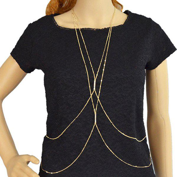 Delicate Multilayered Rhinestone Body Chain For Women
