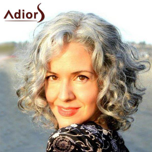 Fluffy Curly Mixed Color Capless Outstanding Medium Centre Parting Synthetic Adiors Wig For Women