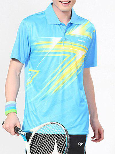 Men's Casual Printing Polo Collar Sport T-Shirt