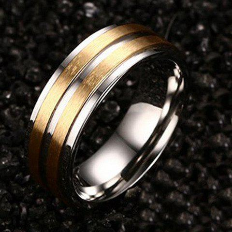 ONE PIECE Punk Alloy Gypsy Setting Men's Ring - GOLDEN